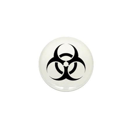 Biohazard Warning Sign Mini Button (10 pack)