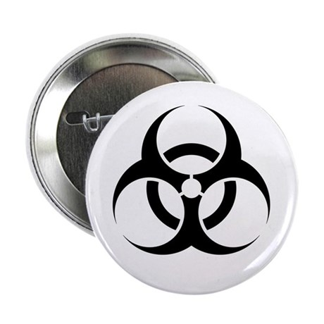 "Biohazard Warning Sign 2.25"" Button (10 pack)"