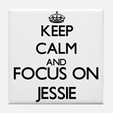 Keep Calm and Focus on Jessie Tile Coaster