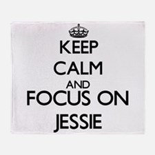 Keep Calm and Focus on Jessie Throw Blanket