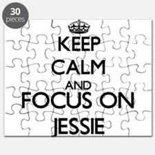 Keep Calm and Focus on Jessie Puzzle