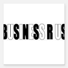 "Business R US Logo Square Car Magnet 3"" x 3"""