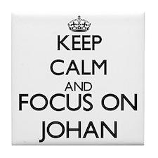 Keep Calm and Focus on Johan Tile Coaster