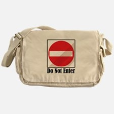 Do Not Enter Messenger Bag