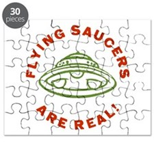 Flying Saucers Are Real Vintage Puzzle