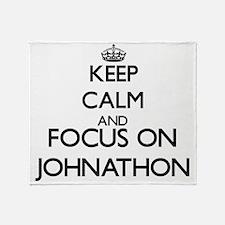 Keep Calm and Focus on Johnathon Throw Blanket