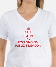 Keep Calm by focusing on Public Television T-Shirt