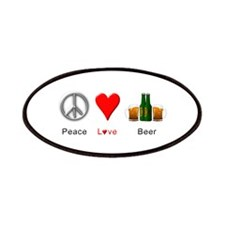 Peace Love Beer Patches