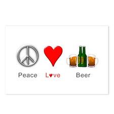 Peace Love Beer Postcards (Package of 8)