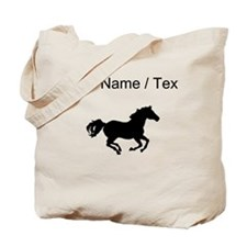 Horse Running Silhouette (Custom) Tote Bag