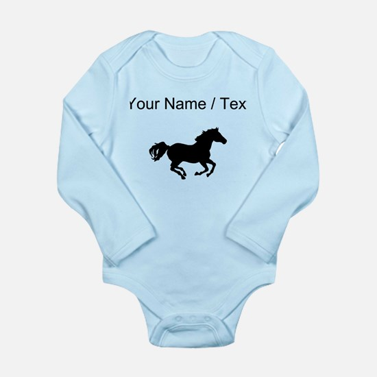 Horse Running Silhouette (Custom) Body Suit