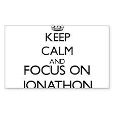 Keep Calm and Focus on Jonathon Decal