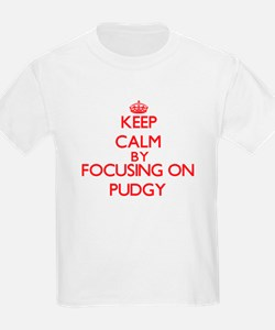 Keep Calm by focusing on Pudgy T-Shirt