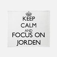Keep Calm and Focus on Jorden Throw Blanket