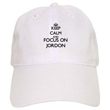 Keep Calm and Focus on Jordon Baseball Baseball Cap