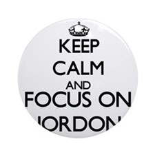 Keep Calm and Focus on Jordon Ornament (Round)
