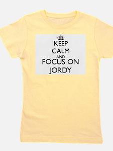 Keep Calm and Focus on Jordy Girl's Tee