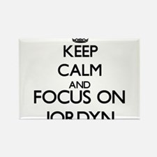 Keep Calm and Focus on Jordyn Magnets