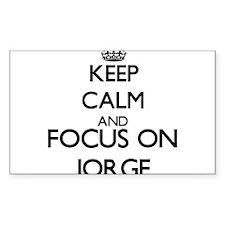 Keep Calm and Focus on Jorge Decal