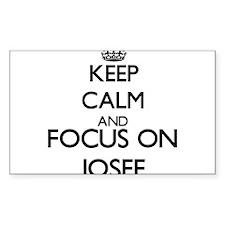 Keep Calm and Focus on Josef Decal