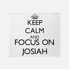 Keep Calm and Focus on Josiah Throw Blanket