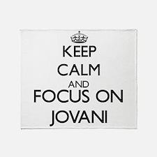 Keep Calm and Focus on Jovani Throw Blanket