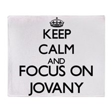 Keep Calm and Focus on Jovany Throw Blanket