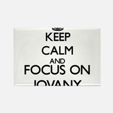 Keep Calm and Focus on Jovany Magnets