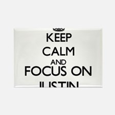 Keep Calm and Focus on Justin Magnets