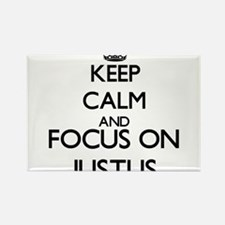 Keep Calm and Focus on Justus Magnets