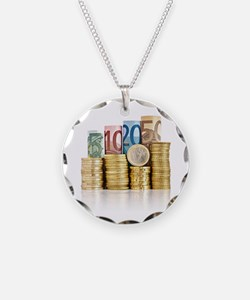 euro currency Necklace