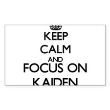 Keep Calm and Focus on Kaiden Decal