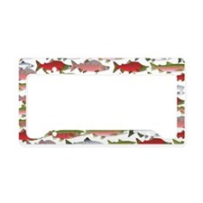 Pacific Salmon pattern License Plate Holder