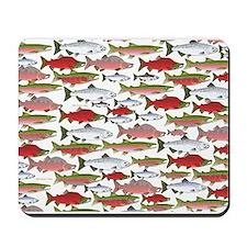 Pacific Salmon pattern Mousepad