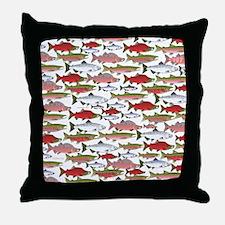 Pacific Salmon pattern Throw Pillow