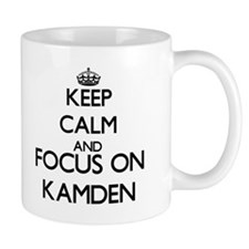 Keep Calm and Focus on Kamden Mugs