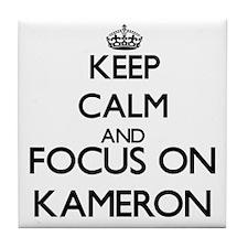 Keep Calm and Focus on Kameron Tile Coaster
