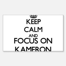 Keep Calm and Focus on Kameron Decal