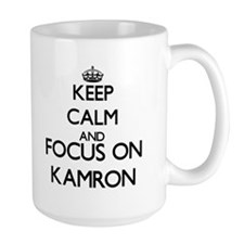 Keep Calm and Focus on Kamron Mugs