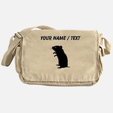Gerbil Silhouette (Custom) Messenger Bag