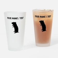 Gerbil Silhouette (Custom) Drinking Glass