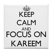 Keep Calm and Focus on Kareem Tile Coaster