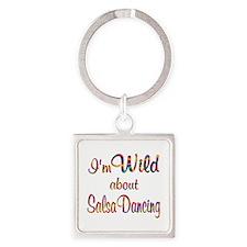 Wild About Salsa Square Keychain