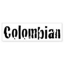 Colombian (bumper) Bumper Bumper Sticker