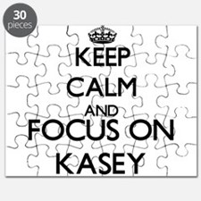 Keep Calm and Focus on Kasey Puzzle