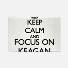 Keep Calm and Focus on Keagan Magnets