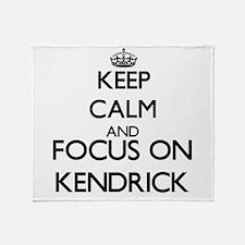 Keep Calm and Focus on Kendrick Throw Blanket