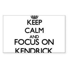 Keep Calm and Focus on Kendrick Decal