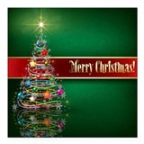 Merry christmas Square Car Magnets
