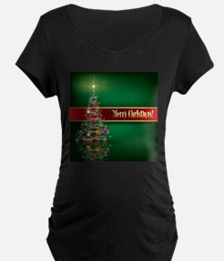 Merry Christmas Maternity T-Shirt